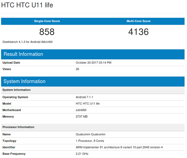 HTC U11 Life özellikleri nasıl olacak