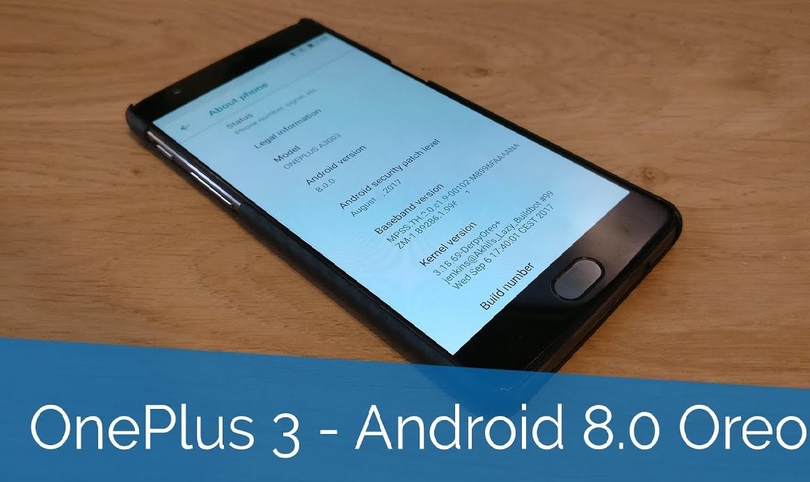 OnePlus 3 ve 3T Android 8.0 güncellemesi