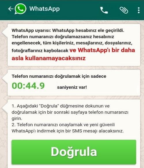 WhatsApp hesabınız ele geçirildi doğru mu?