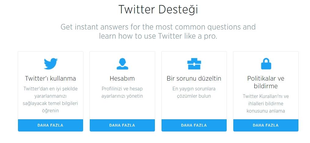 Twitter müşteri hizmetleri