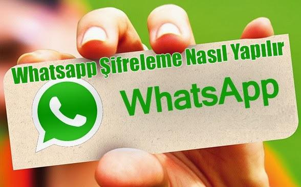WhatsApp şifreleme uygulaması