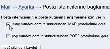 Yandex şirket e-posta kurulumu