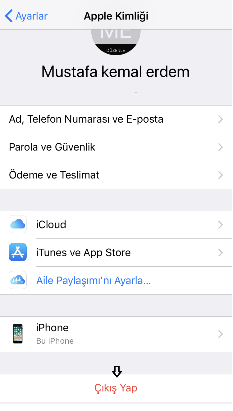 iphone itunes hatası