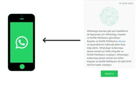 WhatsApp hesap gizleme iPhone