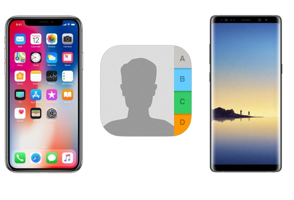 iPhone' dan Android' e rehber aktarma